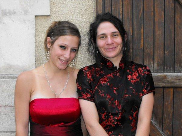 moi au mariage de ma soeur avec ma niece