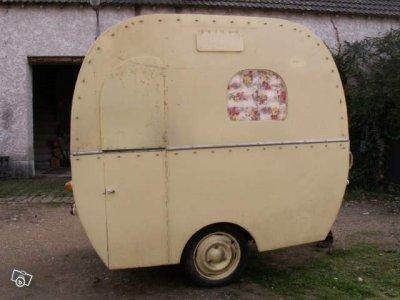 Artisanale 1950 Caravane Ancienne De Collection Henon