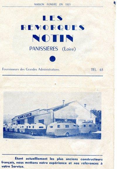 Notin dépliant 1951