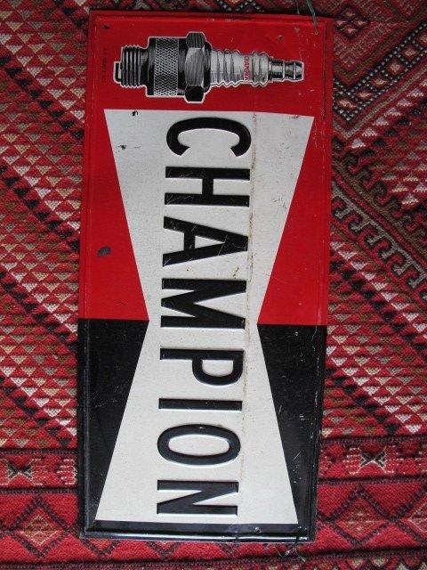 Tole peinte Bougie Champion