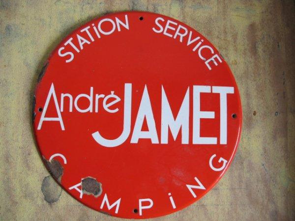 Plaque émaillée André Jamet