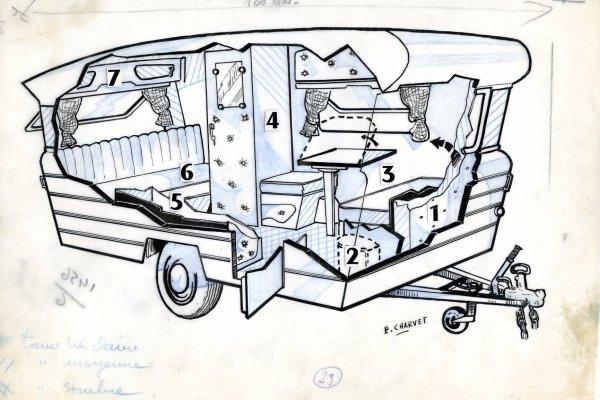 Pierre Charvel, dessins calque originaux