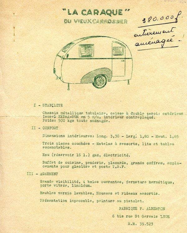 Caravane Francois ALBERTON