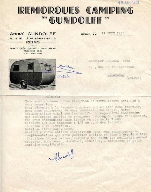 Caravane GUNDOLFF