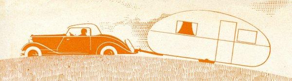 Attelage des années 30 - caravane REX