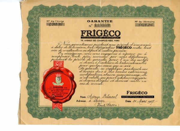 FRIGECO 1937