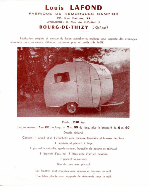 Caravane LAFOND à Bourg de Thizy dans le Rhone