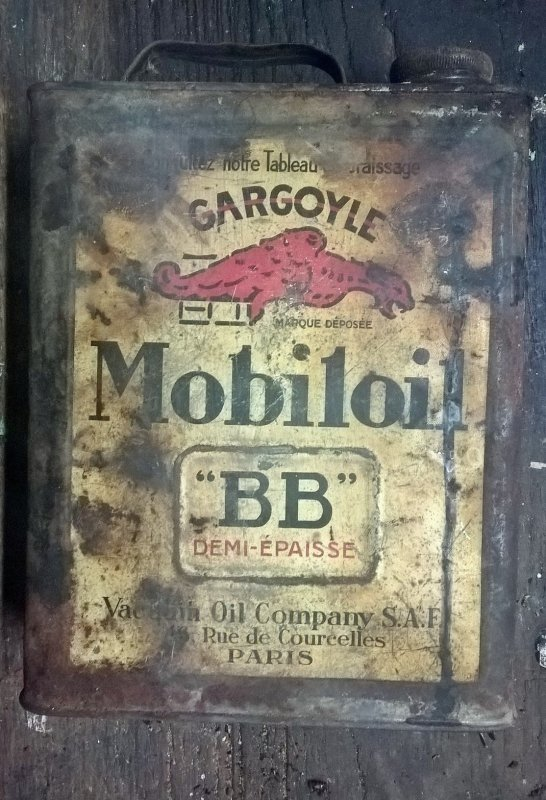 Bidon Pang Oil et Mobil Oil annees 20 / 30