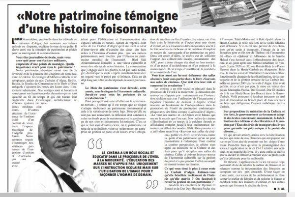 Noureddine Louhal  : «Notre patrimoine témoigne d'une histoire foisonnante»