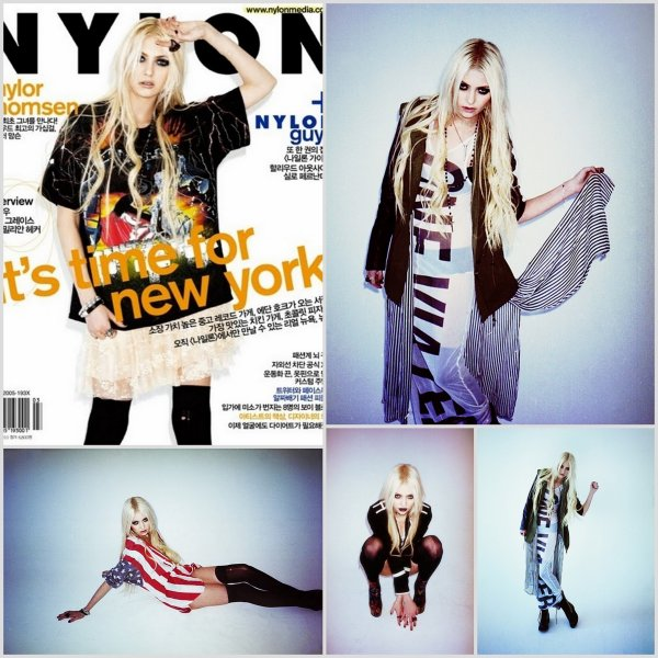 Ratrappage de news : Fashion Week + Blake at Elle Style Awards 2011 + Gotham Magazine's shoot + Taylor Momsen on cover of Nylon Korea Magazine