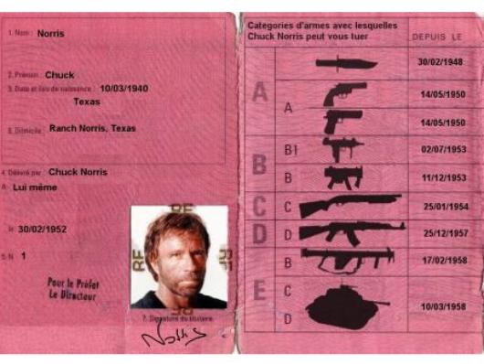 Permis de Chuck Norris
