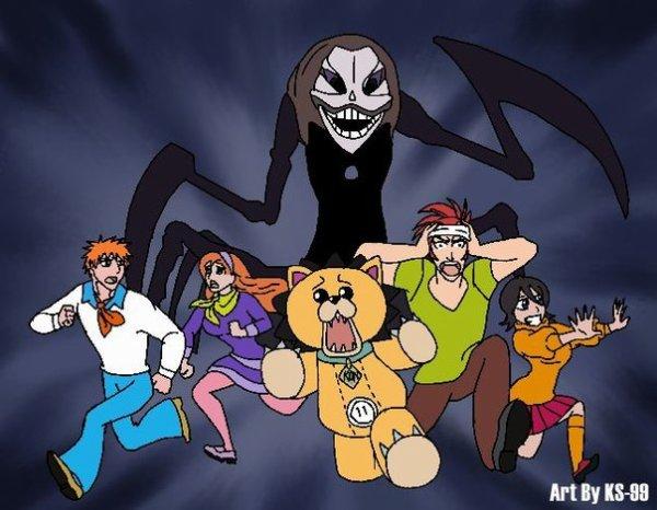Ichigo , Orihime , Renji , Rukia et Kon
