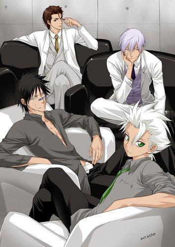Toshiro , Aizen , Gin et Hisagi