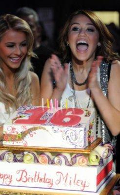 Miley à s'est 16 ans