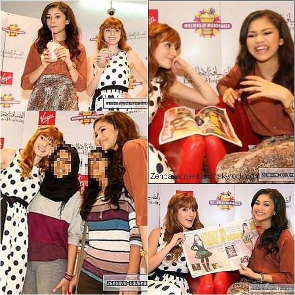 Zendaya & Bella étaient à l'évenement ''Millions of milkshakes'' au centre commercial de Dubai.