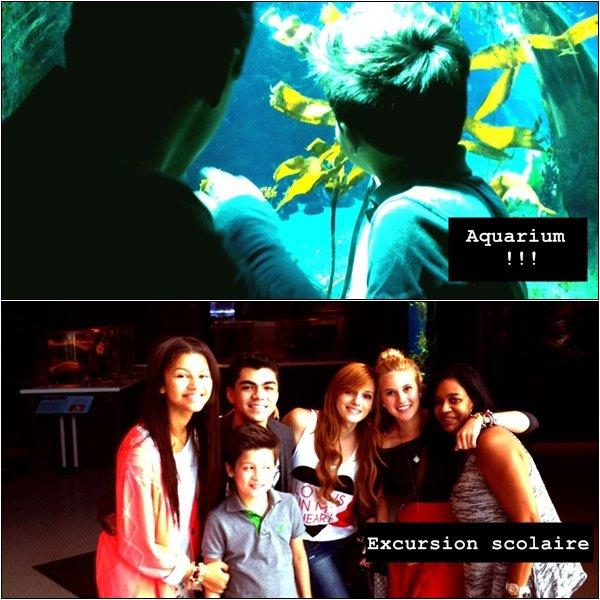 .Zendaya a posté ces photos sur Twitter.Elle était accompagnée de Roshon, Bella, Davis, Caroline, Kenton & Adam./