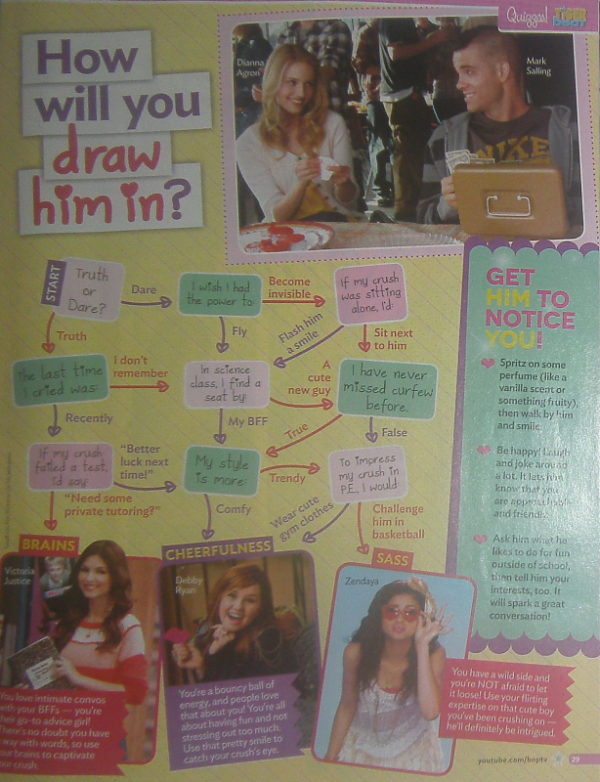 ".06-09-2012 :  Scan du magazine ""Tiger Beat"" du mois d'Octobre 2012.."