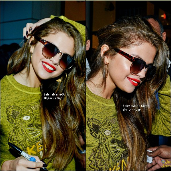 27/05/13 ~ Selena quittant les studios d'NRJ à Paris.