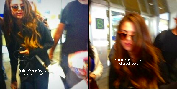 29/05/13 ~ Selena à l'aéroport de Toronto.