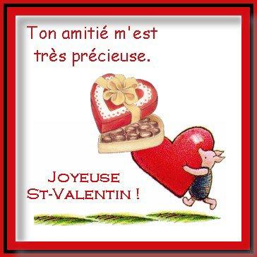 Joyeuse Saint Valentin mes amis(e)!
