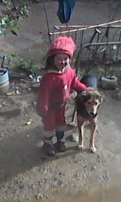 Celina et son fidèle chien Teddy