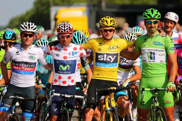 les 4 maillots du 100è tour de France