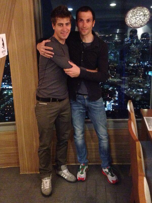 Peter Sagan et Ivan Basso