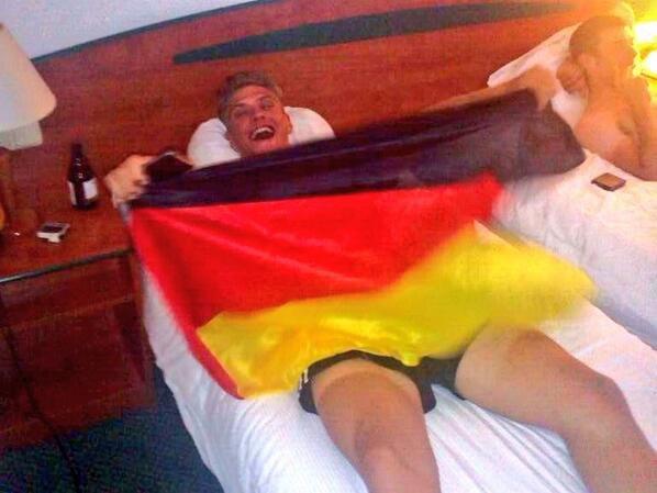 Marcel supporte son pays : l'Allemagne et sa mannschaft