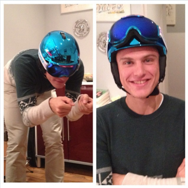 ♥ Marcel en mode skieur ♥