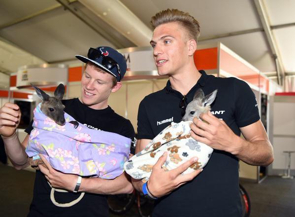 ♥ Marcel avec un petit kangourou ♥