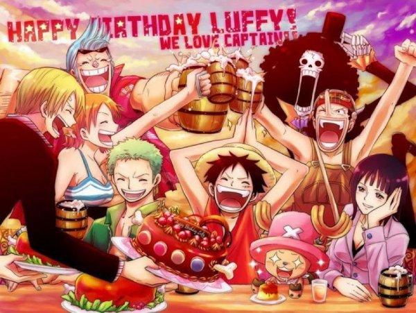♥ Bonne anniversaire Luffy ♥