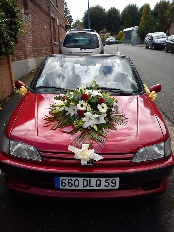la voiture de mon homme pour la mariée, trop belle !!