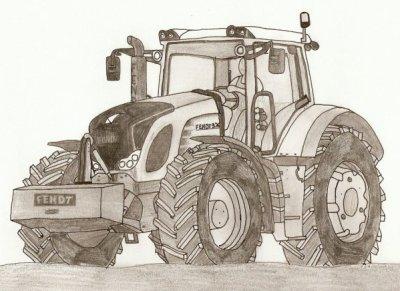 dessin au crayon de papier d 39 un fendt 936 blog de tractor50. Black Bedroom Furniture Sets. Home Design Ideas