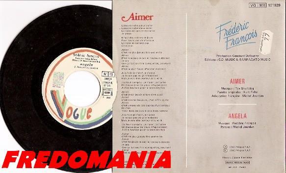 1983 : Angela - Frédéric François   FREDOMANIA