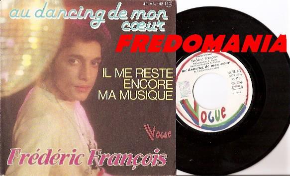 1978 : Au dancing de Mon Coeur - Frédéric François  FREDOMANIA