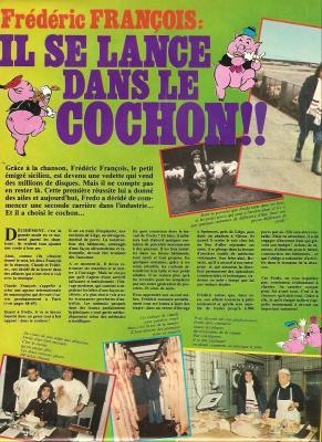 Frédéric François - Il se lance dans le cochon