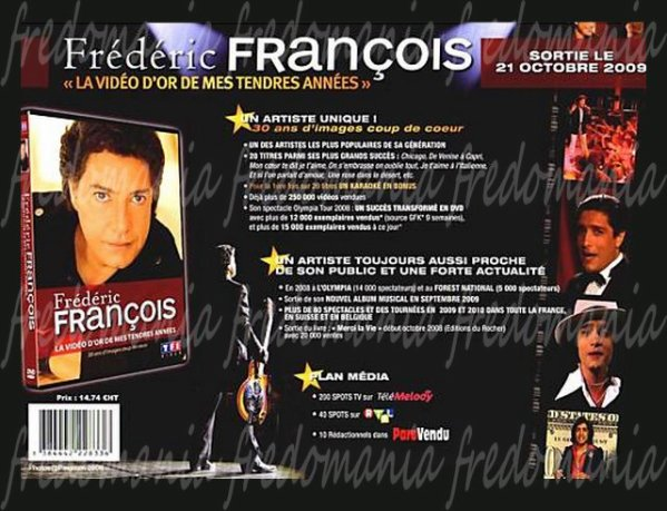 LA VIDEO D'OR DE MES TENDRES ANNEES - Frédéric François   FREDOMANIA