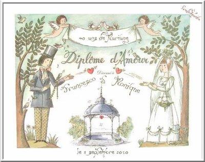 ANNIVERSAIRE DE MARIAGE - FREDERIC FRANCOIS et MONIQUE - 40 ans d'AMOUR