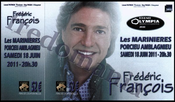 FREDERIC FRANCOIS à PORCIEU le 18 juin 2011 - FREDOMANIA