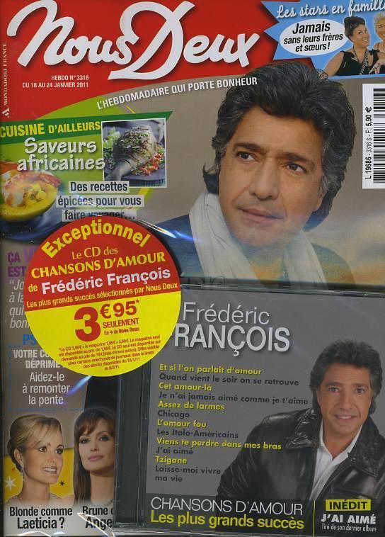 NOUS DEUX : FREDERIC FRANCOIS + CD CHANSONS D'AMOUR - FREDOMANIA