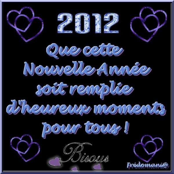 Meilleurs Voeux 2012 - Frédomania