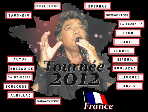 Frédéric François - Tournée 2012-2013