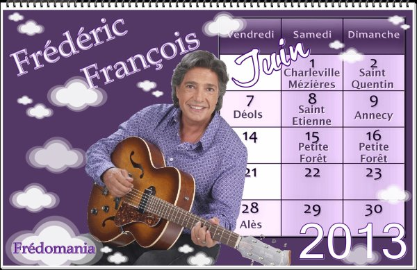 Frédéric François - Ses concerts - juin 2013