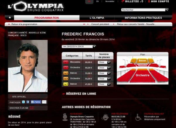 Frédéric François - Olympia 2014