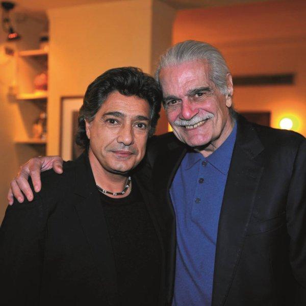 Frédéric François et son ami Omar Sharif