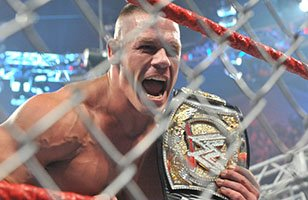 WWE Championship Triple Threat Steel Cage Match: John Cena vs The Miz vs John Morrison!!!
