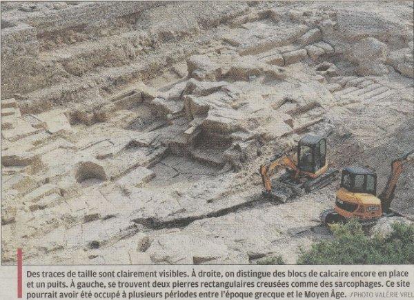 Un site grec antique menacé à MARSEILLE 7ème (Juin 2017)