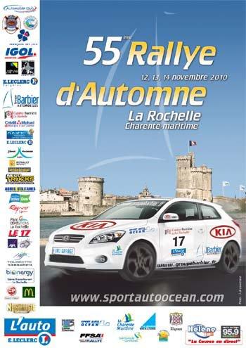 12-13 & 14 Novembre 2010         55ème Rallye d'Automne La Rochelle Charente-Maritime