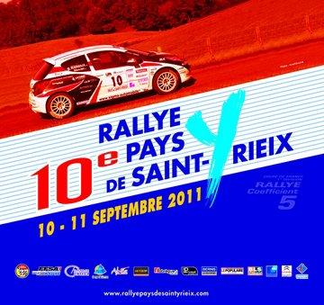 10 & 11 Septembre 2011 10ème Rallye Pays de ST YRIEIX (National Coeff.5)