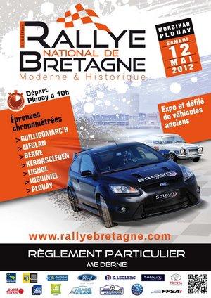 11, 12 & 13 Mai 2012 2ème Rallye National de Bretagne